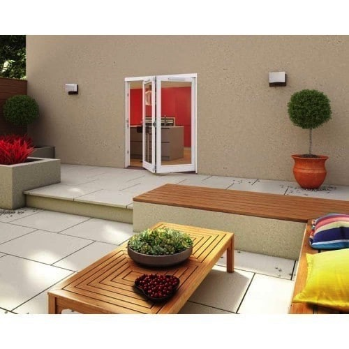 Jeld-Wen Darwin Hardwood Folding Sliding Doorset White FF HDAR18-HFF 1800mm(w) x 2100mm(h)