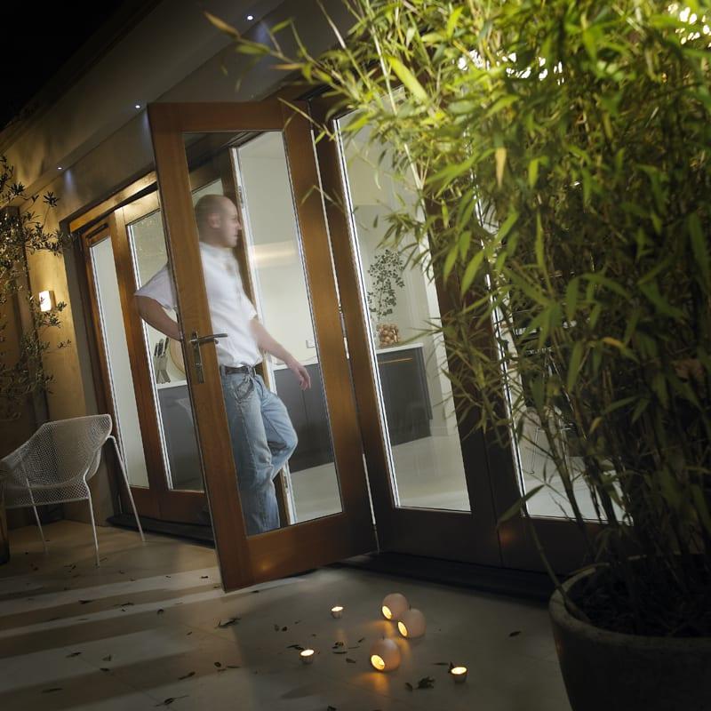 Canberra oak folding sliding patio 2100