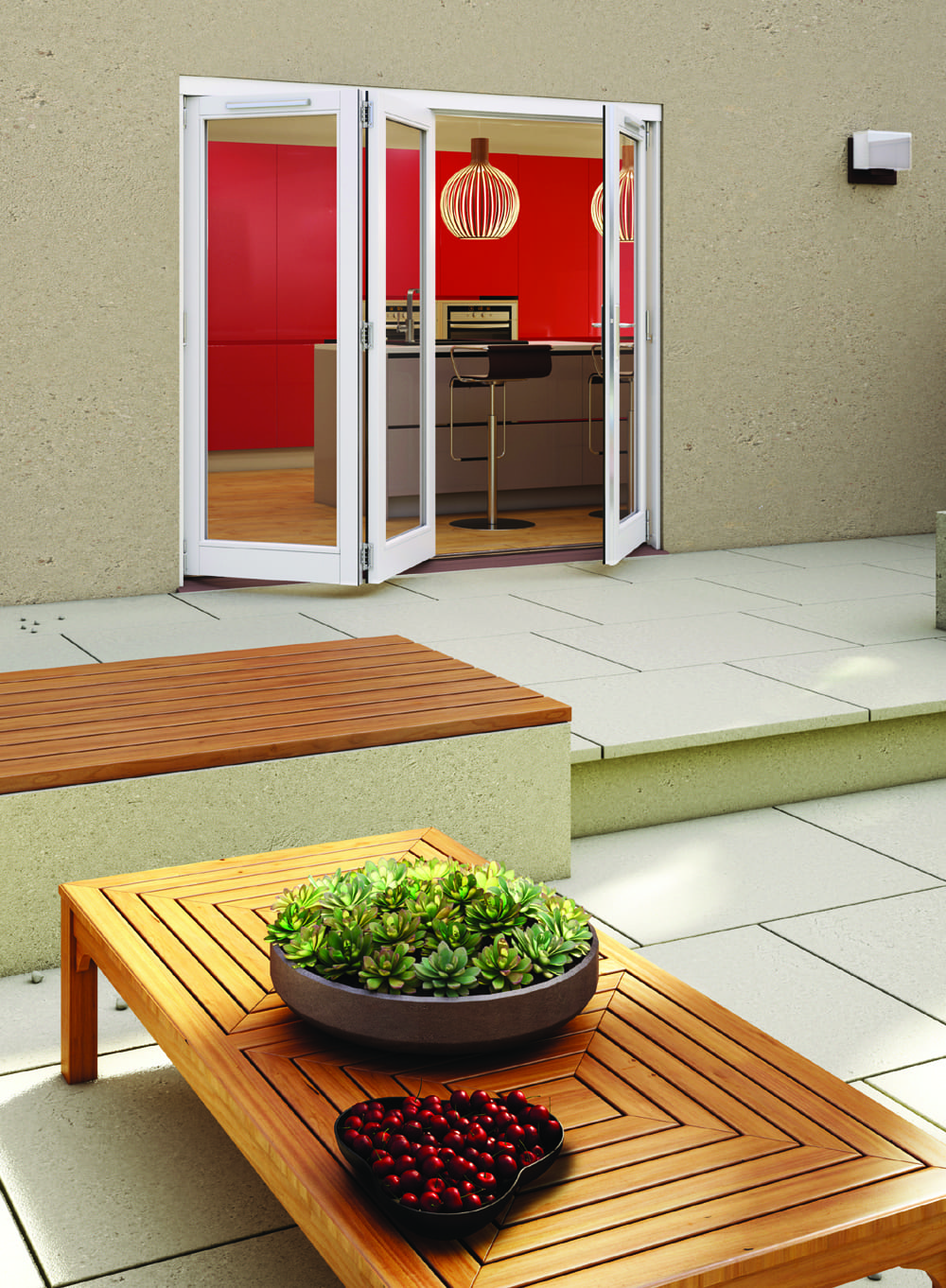 Darwin Hardwood 3 door patio