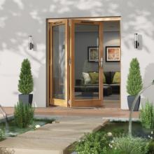 Jeld-wen Canberra Oak Folding Patio Doors 1800mm
