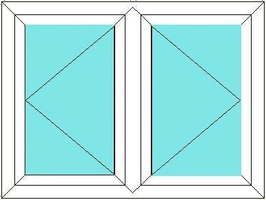 Left hand opener next to right hand opener window