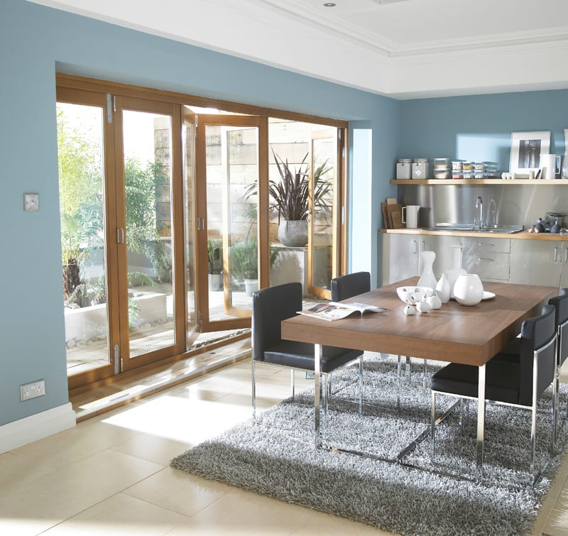 Oakfold Pre-finished Bifolding patio doors