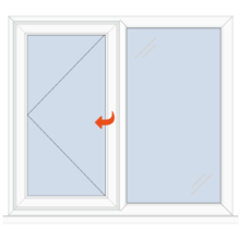 Upvc Casement Window Left Side Opener/Fixed