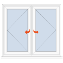 Upvc Casement Window Open/Open