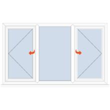 Upvc Casement Window Side Hung/Fixed/Side Hung