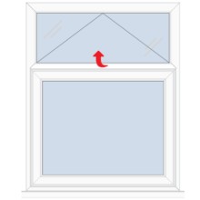 Upvc Casement Window with Vent