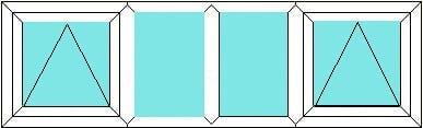 Top Hung-Fixed-Fixed-Top Hung window