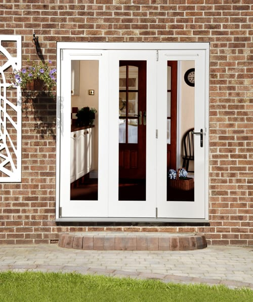 White Wellington Folding Sliding Bifold Door 1800mm W X