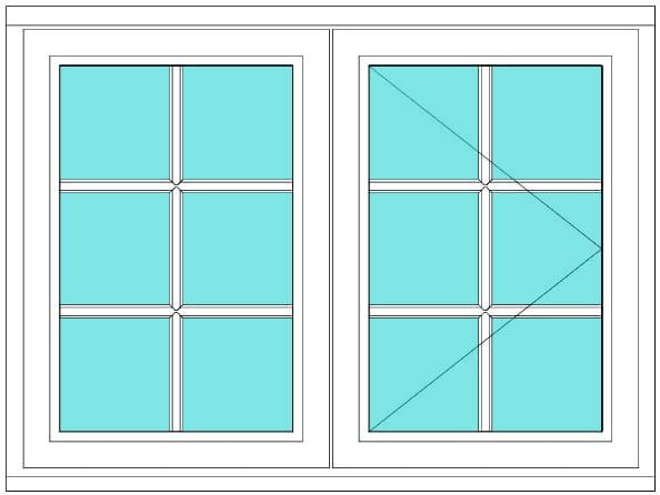 All Bar Casement fixed open right window
