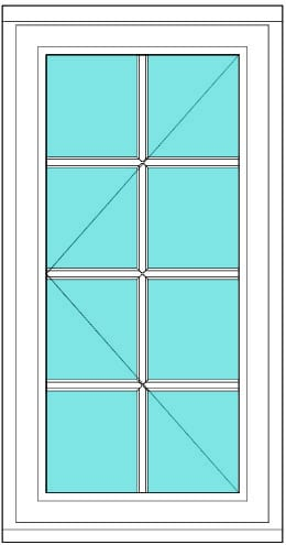 All Bar Casement left 2 x 4 window