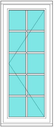All Bar Casement left 2 x 5 window