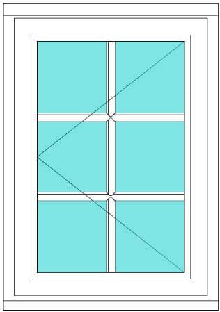All Bar Casement left window
