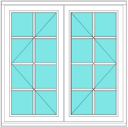All Bar Casement open open 2 x 4 window