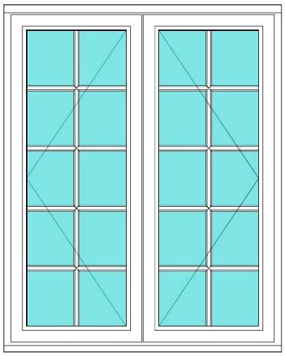 All Bar Casement open open 2 x 5 window