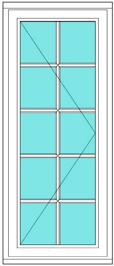 All Bar Casement right 2 x 5 window