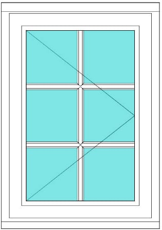 All Bar Casement right window