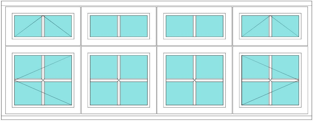 All Bar Transom Vent over open-double fix vent -vent over open 2 x2 window