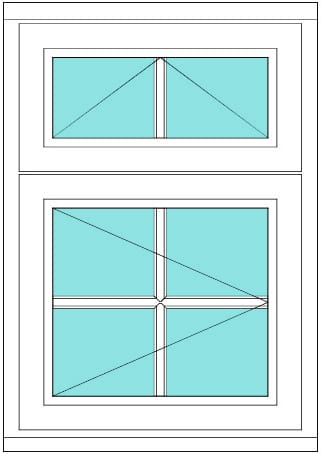 All Bar Transom with vent 2 x 2 Right window