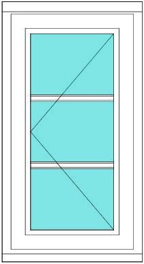 All bar casement narrow 1 x 3 window