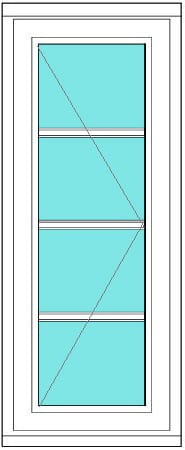 All bar casement narrow 1 x 4 right window