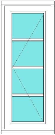 All bar casement narrow 1 x 4 window