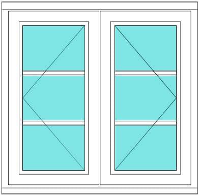 All bar casement narrow open open 1 x 3 window