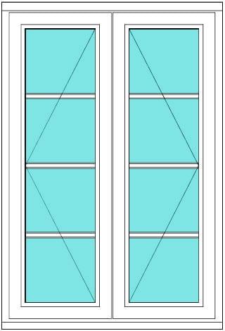 All bar casement narrow open open 1 x 4 window