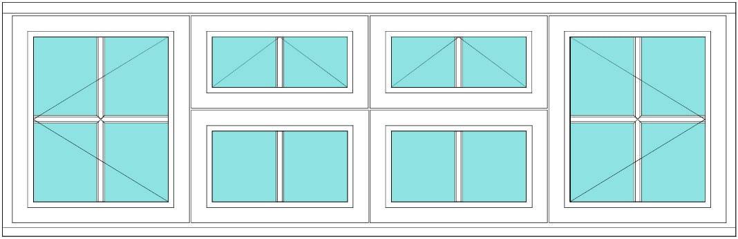 All bar casement open vent vent open 2 x 2 window