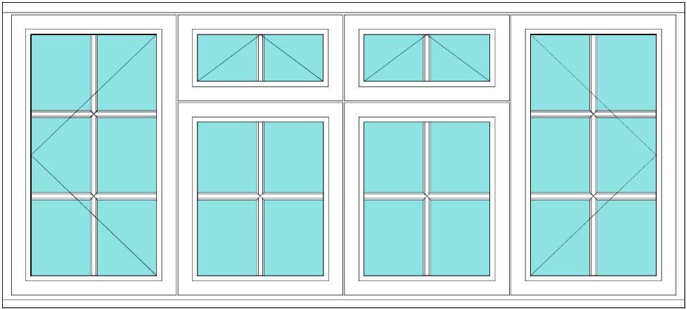 All bar casement open vent vent open 2 x 3 window