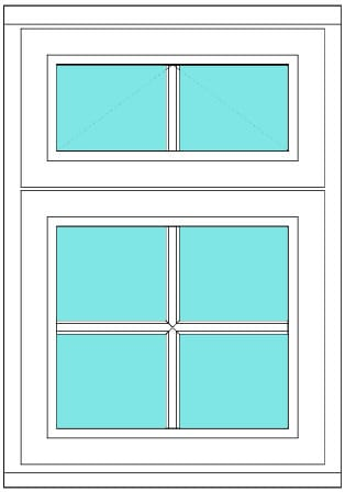 All bar casement with vent 2 x 3 window