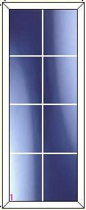 upvc window DG Geo Bar 2 x 4