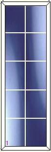 upvc window DG Geo Bar 2 x 5