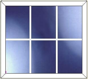 upvc window DG Geo Bar 3 x 2