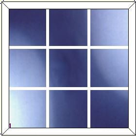 upvc window DG Geo Bar 3 x 3
