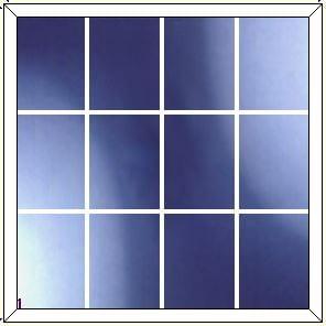 upvc window DG Geo Bar 4 x 3