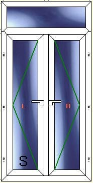 F Door lead right with toplight