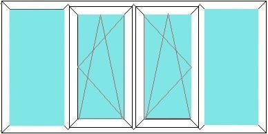 Fixed-Tilt and Turn-Tilt and Turn-Fixed window