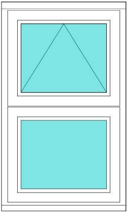Horizontal Bar divided casement window