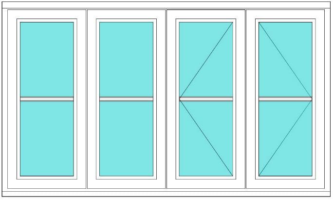 Horizontal Bar fixed fixed open open FE right window