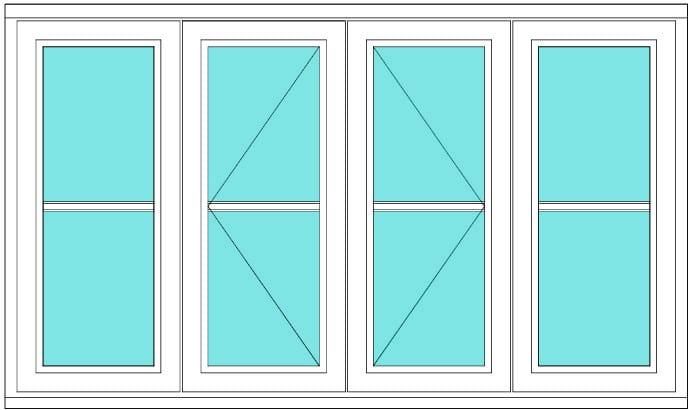 Horizontal Bar fixed open open fixed window