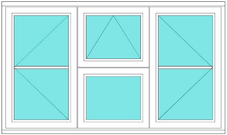 Horizontal bar Casement open vent open window