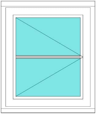 Horizontal bar Casement right window