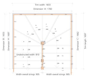 Stair layout diagram L
