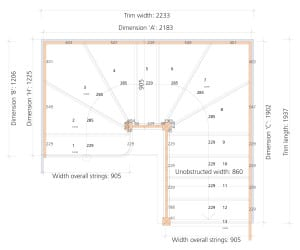 Stair layout diagram R