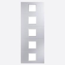 Linea Primed Clear Glazed 5L Door