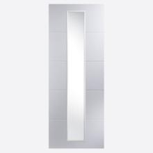 Linea Primed Glazed 1L Etched Door