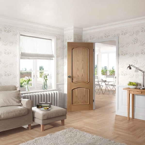Louis Oak unfinished door set shot