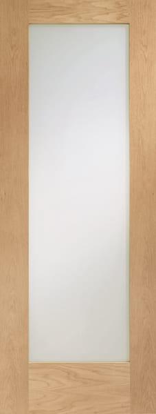 PATTERN 10 OAK DOOR WITH OBSCURE GLASS