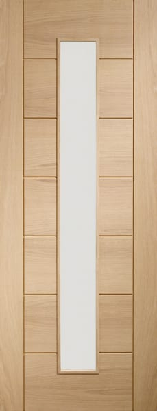 Palermo Oak 1 light with clear glass door