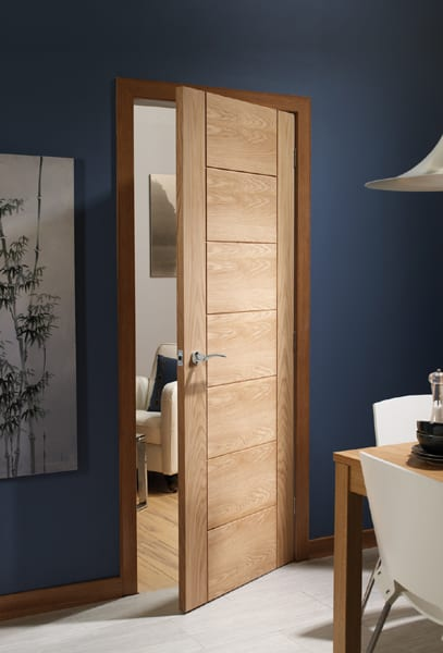 Palermo oak door set shot